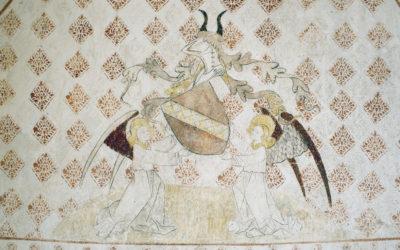 Peintures murales château de Montplaisant, Auvergne Rhône Alpes, Isère (38)