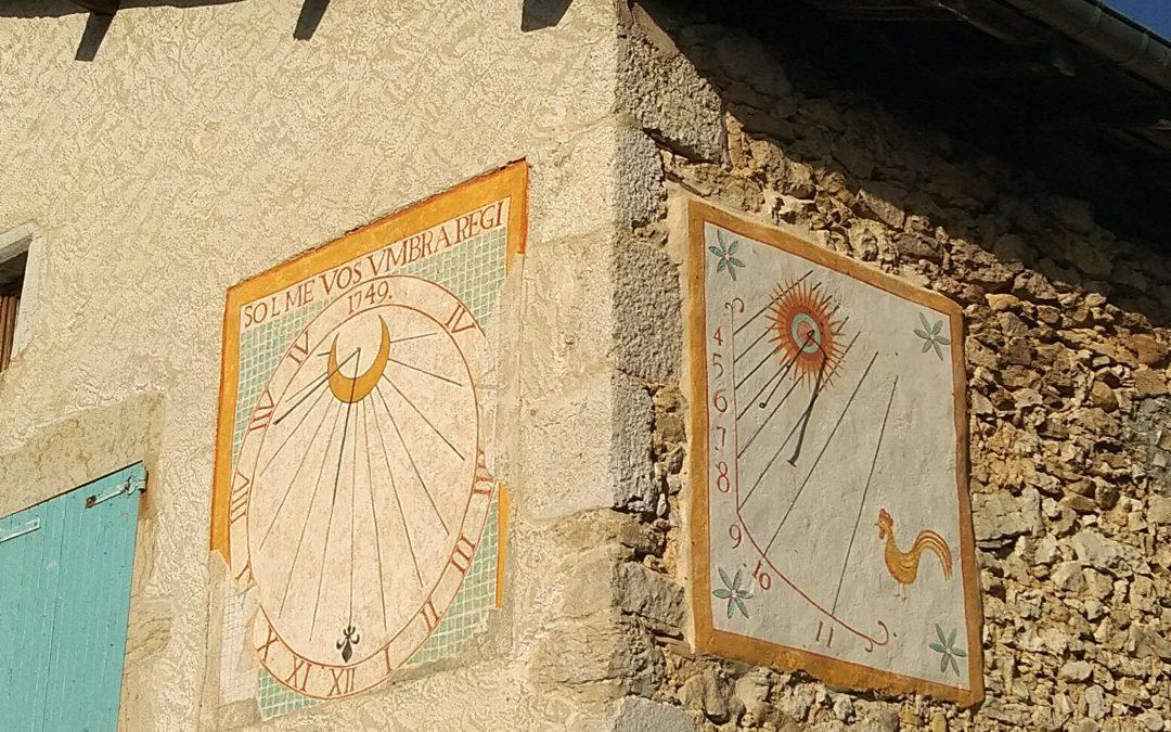 Cadran solaire, Presles, Auvergne Rhône Alpes, Isère (38)