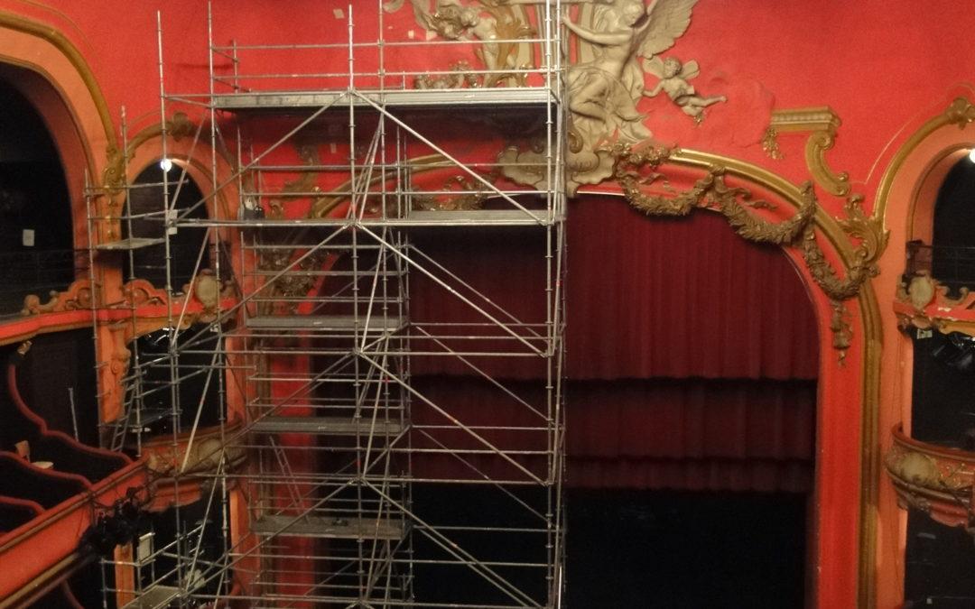 Décors muraux, théâtre d'Aix-les-Bains, Auvergne Rhône Alpes, Savoie (73)