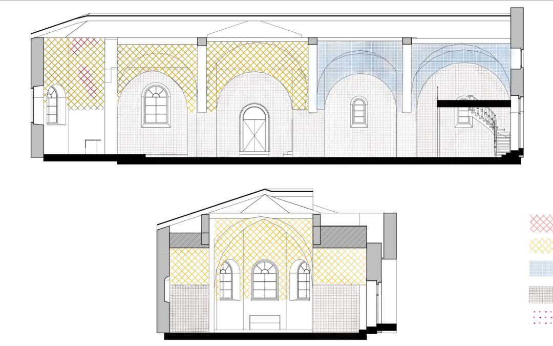 Étude des décors intérieurs, église de St-Julien-Molin-Molette, ARA, Loire (42)
