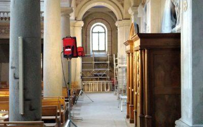 Restauration des peintures murales de l'église de Goncelin, ARA, Isère (38)