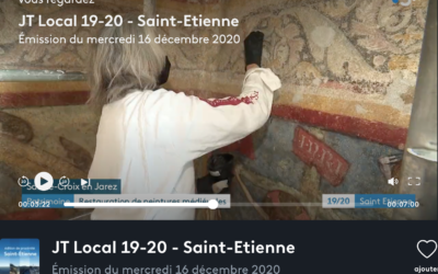 Peintures murales de Thibaut de Vassalieu, 14e siècle, Sainte-Croix-en-Jarez, Loire
